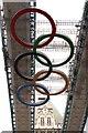 TQ3380 : Olympic rings on Tower Bridge by Steve Daniels