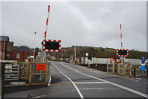 SX9193 : Level crossing, Station Rd by N Chadwick