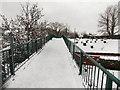 ST3090 : Snowy Pilton Vale footbridge, Malpas, Newport by Jaggery