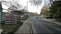 SK3281 : Temporary entrance to Dore & Totley station, from Abbeydale Road South by Chris Morgan