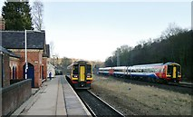 SK3281 : East Midlands Trains Class 158 Sprinters meet at Dore and Totley by Chris Morgan
