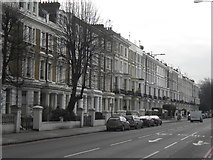 TQ2479 : Holland Road, seen from the junction with Lower Addison Gardens by Andrew Wilson