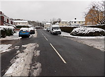 ST3090 : Wintry southern end of Rowan Way, Malpas, Newport by Jaggery