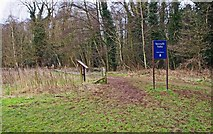 SO8475 : Entrance to Spennells Valley Nature Reserve from the Sports Field, Spennells, Kidderminster by P L Chadwick