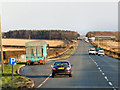NY1568 : Layby, eastbound A75 at Charlesfield by David Dixon