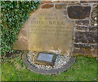 NS3975 : Gravestone of John Bell by Lairich Rig