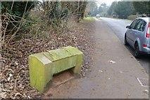 SK8354 : Grit bin on Newark Road by David Lally