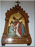 SP4540 : St John the Evangelist, Banbury: 6th Station of the Cross by Basher Eyre