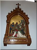 SP4540 : St John the Evangelist, Banbury: 7th Station of the Cross by Basher Eyre