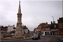 SP4540 : Banbury Cross by Steve Daniels