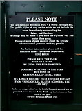 SP4416 : Notice on the side entrance by Graham Horn