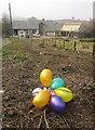 SX8769 : Balloons on the verge, Aller by Derek Harper