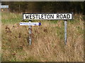 TM4069 : Westleton Road sign by Adrian Cable