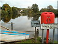 SO0328 : A River Usk landing stage, Brecon by Jaggery
