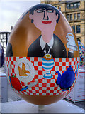 SJ8398 : Breakfast With The Beatles by Gordon Beswick and Harry Pye - Big Egg Hunt, Exchange Square by David Dixon