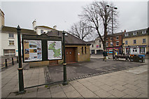 SP4540 : Information Board near Banbury Cross, Horse Fair, Banbury by Christine Matthews