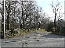 SE0721 : Dog Lane at its junction with Rochdale Road by Humphrey Bolton
