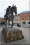 SP4540 : Fine Lady Statue at Banbury Cross, Banbury by Christine Matthews