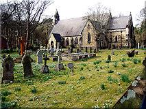 SD2806 : Snowdrop time St. Luke's Church by Norman Caesar