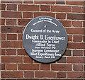 TQ2880 : Dwight D Eisenhower plaque, London W1 by Albert Bridge
