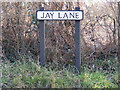 TM5199 : Jay Lane sign by Adrian Cable