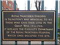 TQ3086 : Royal Northern Gardens Plaque by David Anstiss