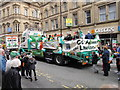 SJ8398 : St Patrick's day parade in Manchester by David Hawgood
