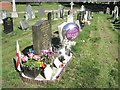 SP0892 : Family tributes, Witton Cemetery by Robin Stott