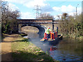 SU9880 : Maintenance Boat on the Slough Canal by Des Blenkinsopp