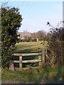 TM4368 : Footpath to St.Peter's Church & Darsham Road by Adrian Cable