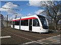 NT1672 : Tram practice by M J Richardson