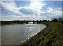 TQ0004 : Rail bridge over the River Arun at Ford by Dave Spicer
