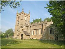 SK4968 : St Leonard's Church at Scarcliffe by Trevor Rickard