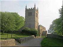 SK4968 : Path to St Leonard's Church by Trevor Rickard