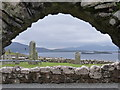 NG2261 : Trumpan: view through the church doorway by Chris Downer