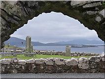 NG2261 : Trumpan: view through the church doorway by Chris Downer