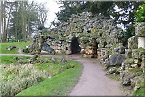 SO8744 : The grotto at Croome Park by David Lally
