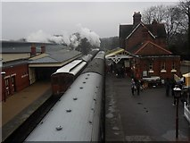 TQ4023 : Sheffield Park Station - the departure of the 15:15 to East Grinstead by Ed of the South