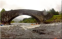 NN2939 : About to run under the Bridge of Orchy by Andy Waddington