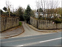 SS8983 : Housing access lane from Park Road, Aberkenfig by Jaggery