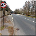 SS8983 : Park Road bus stops, Aberkenfig by Jaggery