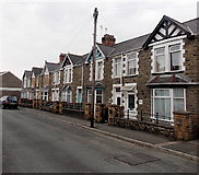 SS8983 : A row of houses in Dunraven Street, Aberkenfig by Jaggery