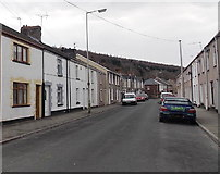 SS8983 : Housing variety on the south side of Dunraven Street, Aberkenfig by Jaggery