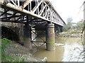 ST6172 : River Avon's New Cut passing under railway bridge by Christine Johnstone