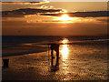 TQ2904 : Bait digging, Brighton beach by Robin Webster