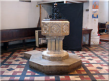 TQ2976 : Font of Christ Church, Clapham by Stephen Craven