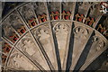TR1557 : Fan Vaulting detail, Bell Harry tower, Canterbury Cathedral by Julian P Guffogg