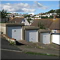 SX9373 : Three lock-up garages, Cartwright Crescent, Teignmouth by Robin Stott