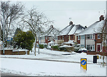 SO9096 : Late March snow in Penn, Wolverhampton by Roger  Kidd