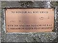ST9506 : Plaque on War Memorial by Nigel Mykura